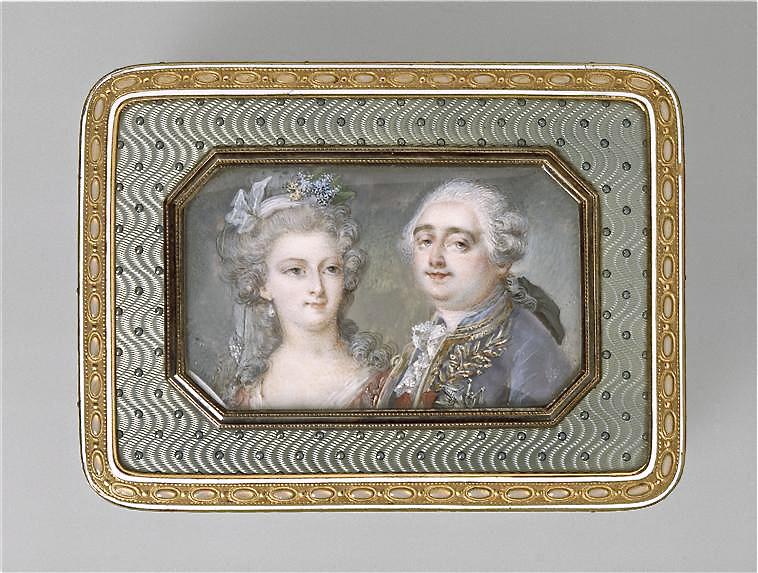 Portraits de Marie-Antoinette sur les boites et tabatières Adrien10