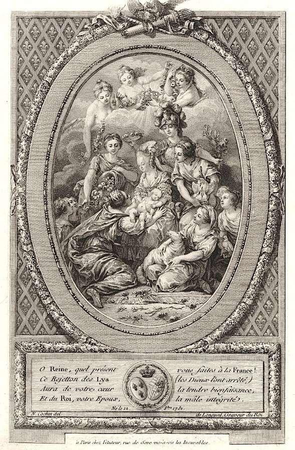 Naissances illustrées des enfants de Marie-Antoinette  An002311