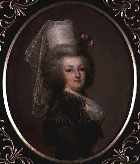 wertmuller - Marie-Antoinette en habit de chasse, ou chemise blanche, par Wertmüller (1788) Archdu10