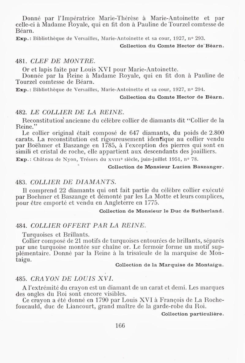 Exposition : Marie-Antoinette à Versailles (1955) - Les bijoux  Img00210