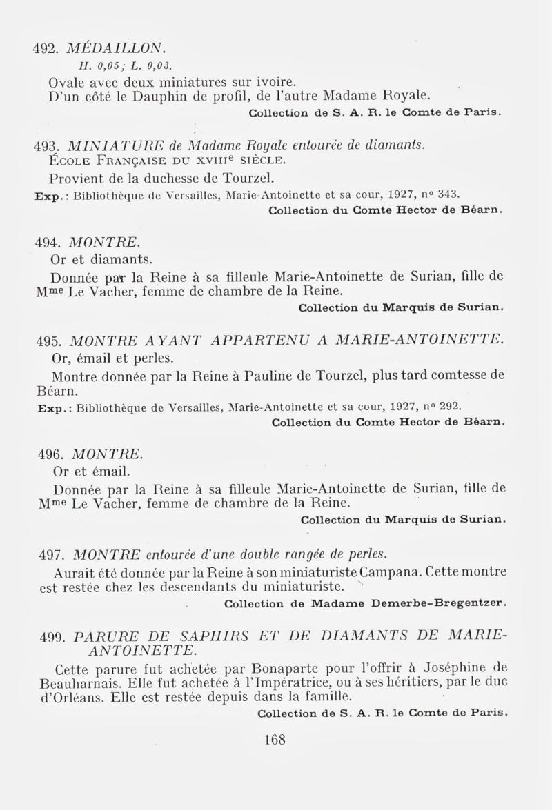 Exposition : Marie-Antoinette à Versailles (1955) - Les bijoux  Img00211