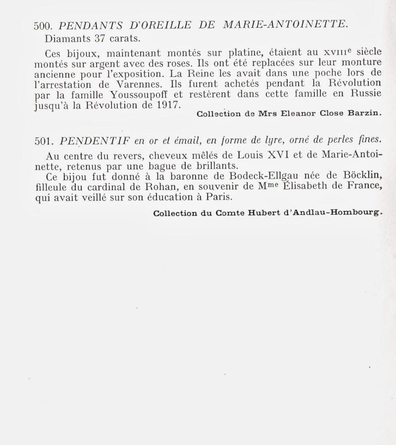 Exposition : Marie-Antoinette à Versailles (1955) - Les bijoux  Img00212