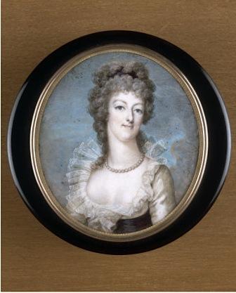Portraits de Marie-Antoinette sur les boites et tabatières Marie-16