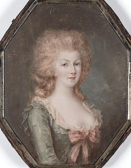 Marie Antoinette, miniatures attribuées à ou d'après François Dumont - Page 2 Marie_26