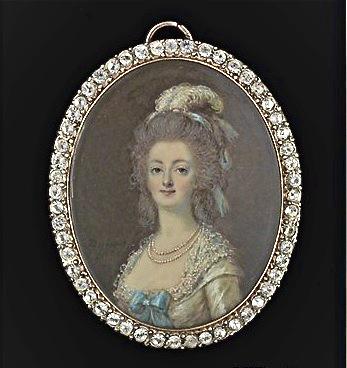 Marie Antoinette, miniatures attribuées à ou d'après François Dumont - Page 2 Marie_27