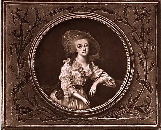 Portraits de Marie-Antoinette et Louis XVI, par Louis-Marie Sicard, dit Sicardi ou Sicardy Marie_35