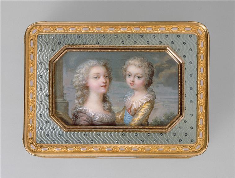 Portraits de Marie-Antoinette sur les boites et tabatières Maximi10