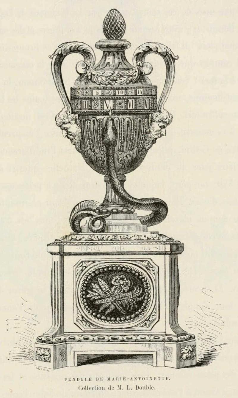 Pendules et horloges de Marie-Antoinette Pendul13