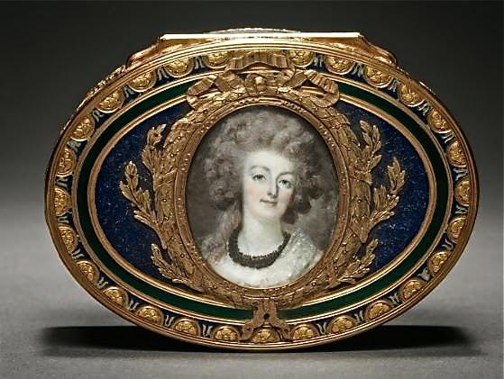 Portraits de Marie-Antoinette sur les boites et tabatières Tabati10