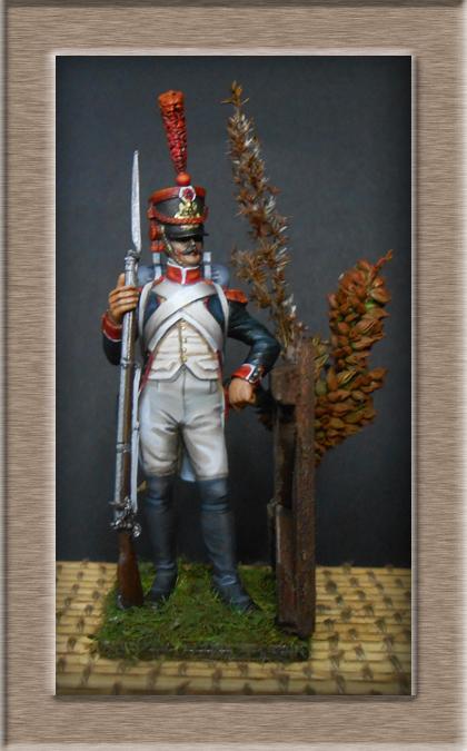 Grenadier en shako Infanterie de la ligne 1809 (métal modèles 54mm ) 74_01012
