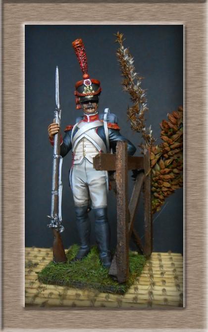 Grenadier en shako Infanterie de la ligne 1809 (métal modèles 54mm ) 74_02011