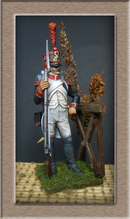 Grenadier en shako Infanterie de la ligne 1809 (métal modèles 54mm ) 74_02413