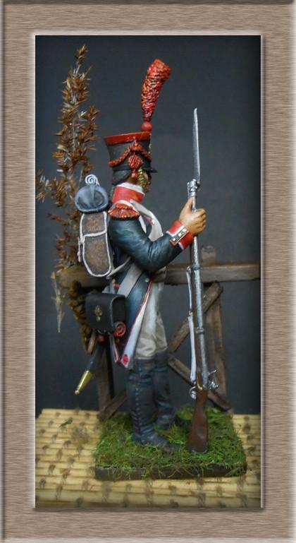 Grenadier en shako Infanterie de la ligne 1809 (métal modèles 54mm ) 74_03911