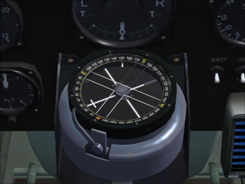 Utilisation de la tenue du cap sur Tiger Moth Derive11