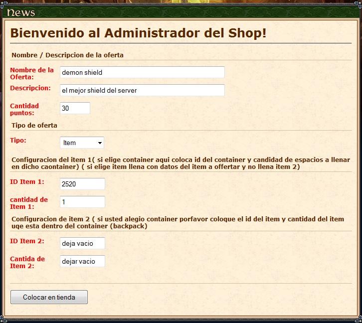 [Html] shopsystem.php y shopadmin.php para gesior 2012 tfs 1.0 Shop110