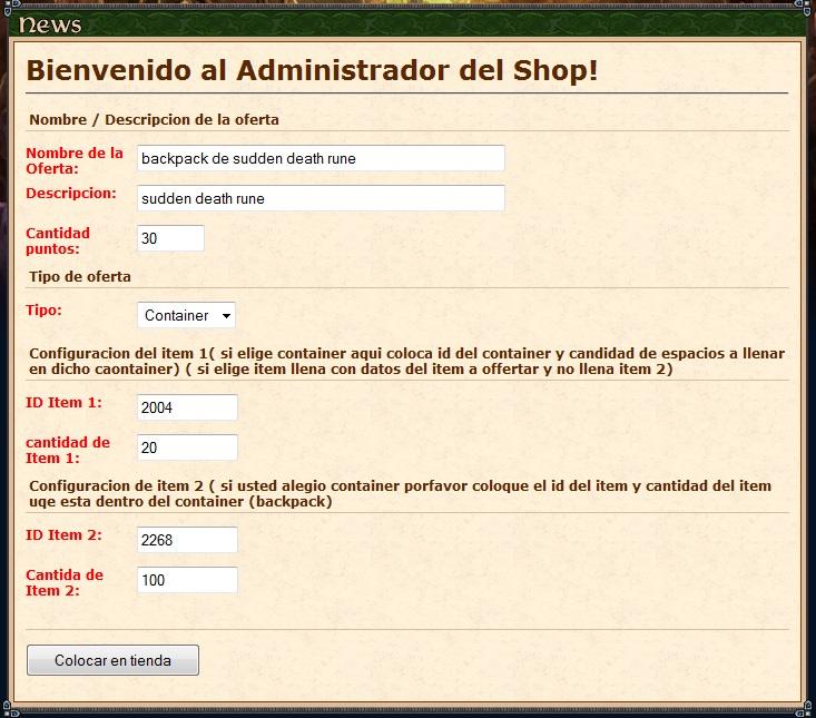 [Html] shopsystem.php y shopadmin.php para gesior 2012 tfs 1.0 Shop210