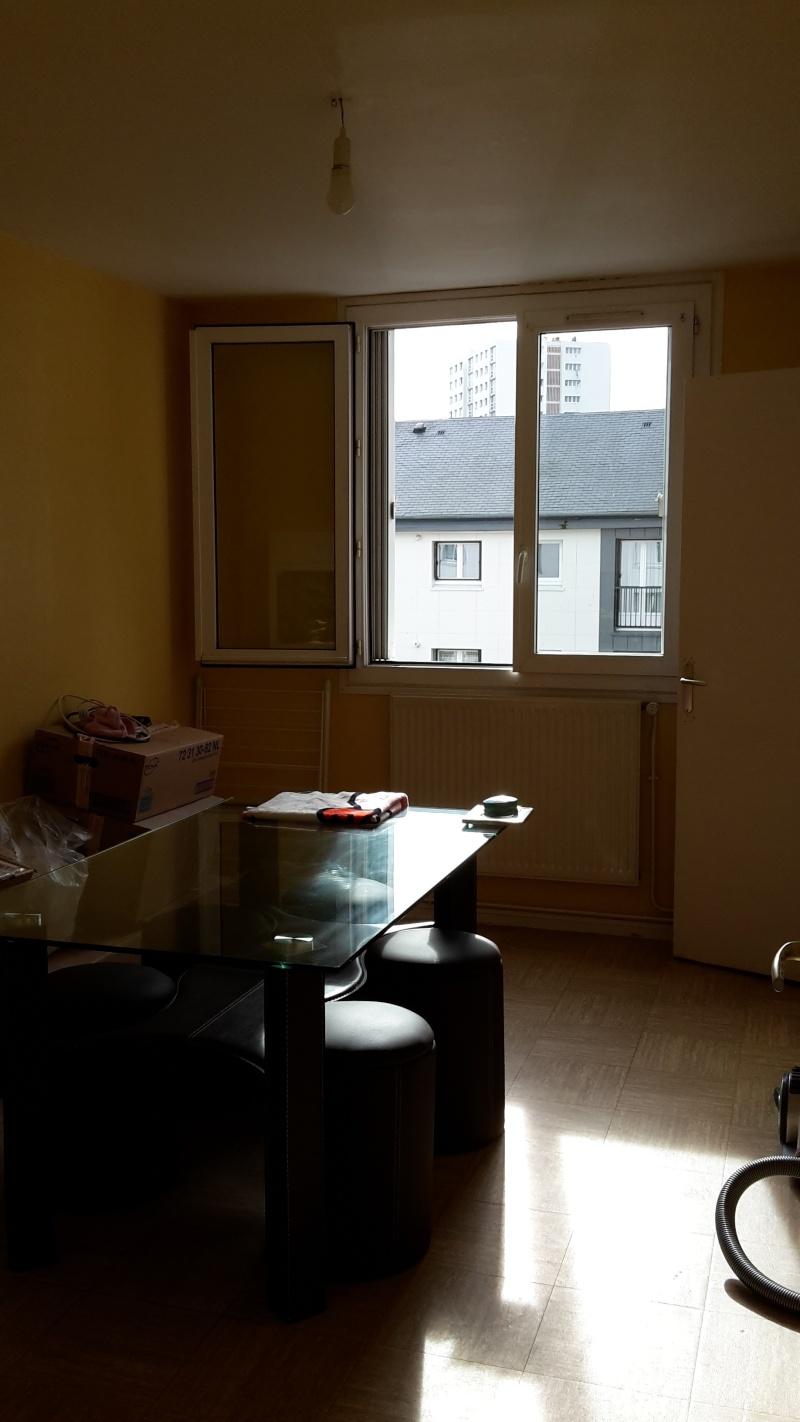 Premier appartement, du sol aux murs est les meubles. 20141013