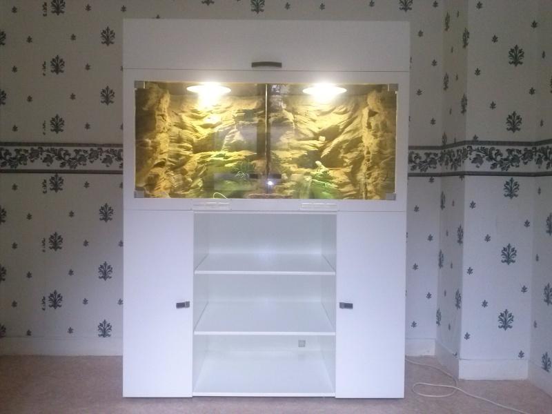 """""""  A vendre   """" Construction d'un terrarium + son meuble en MDF pour pogona henrylawsoni """" projet achevé  ! """" Cam00810"""