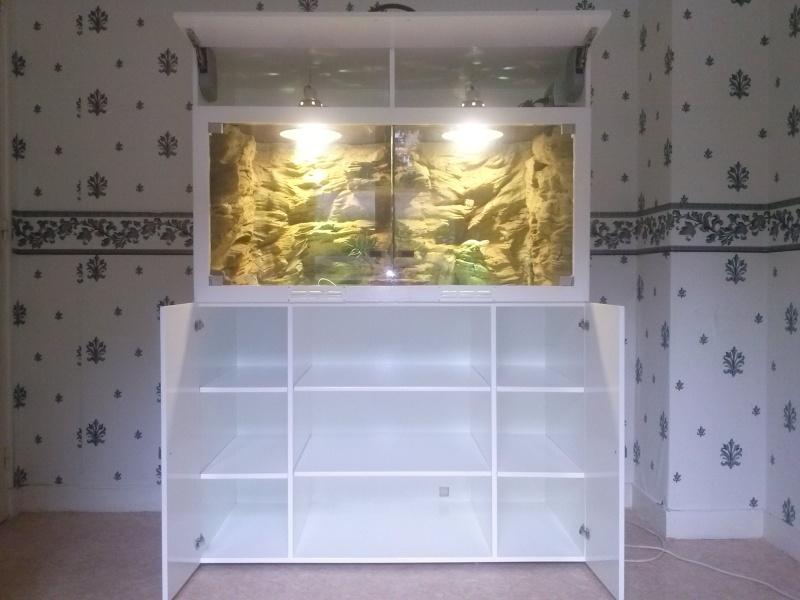 """""""  A vendre   """" Construction d'un terrarium + son meuble en MDF pour pogona henrylawsoni """" projet achevé  ! """" Cam00811"""