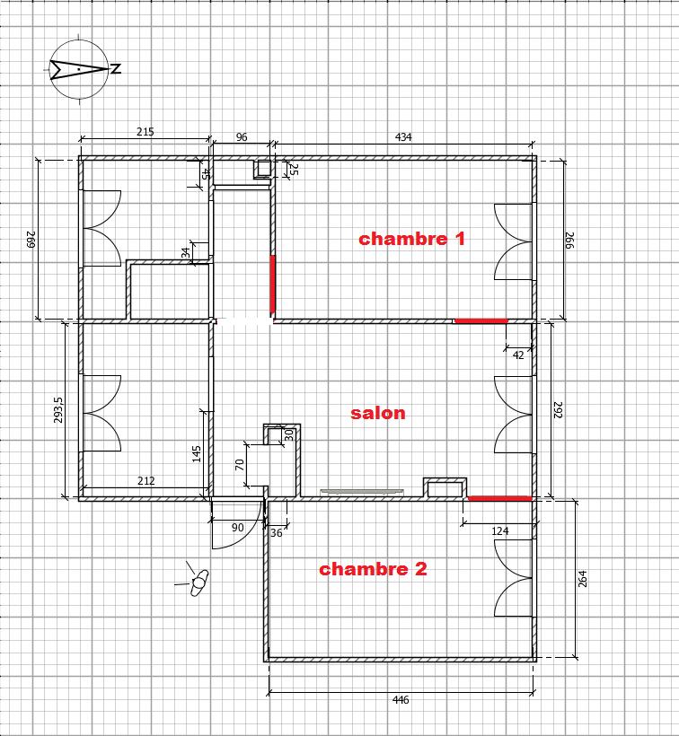 Premier appartement, du sol aux murs est les meubles. Plan_d14
