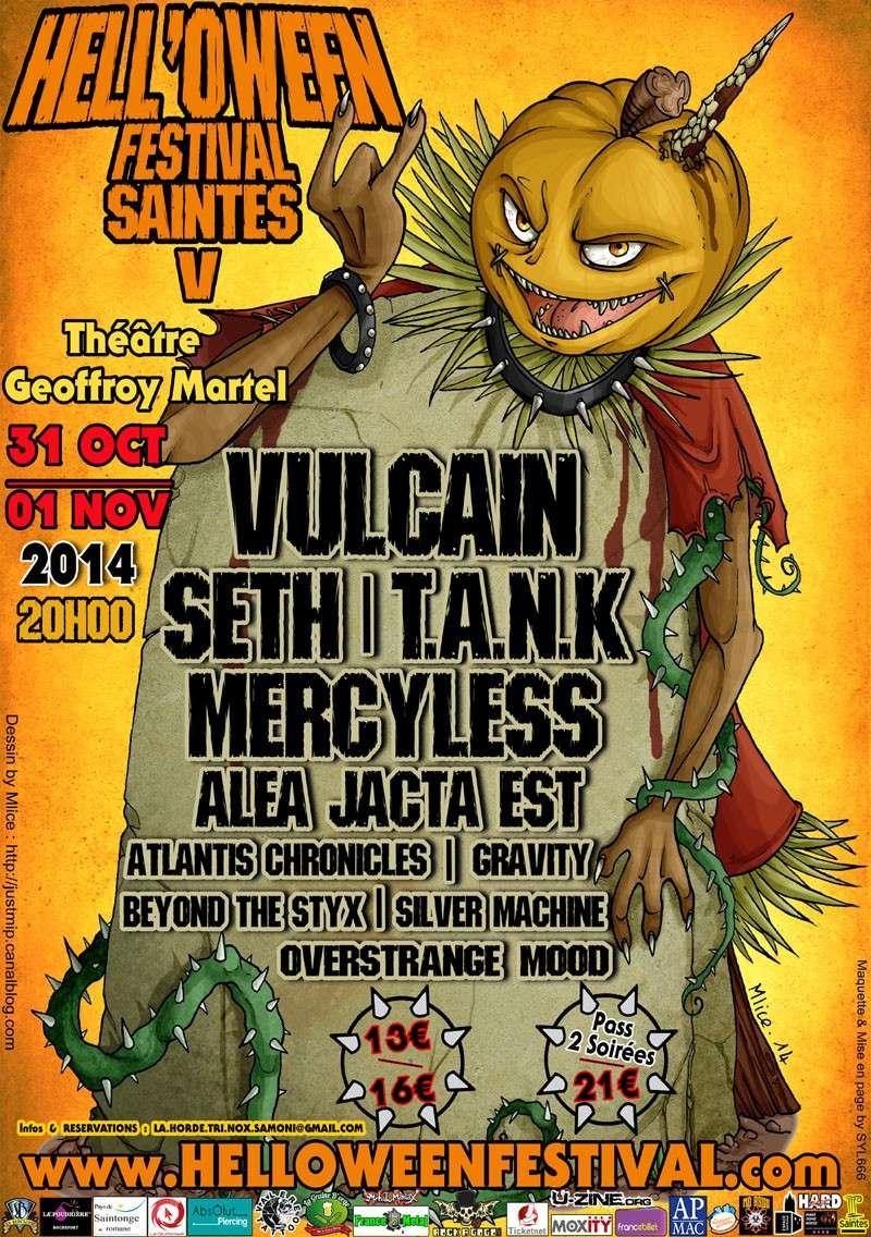 VULCAIN au Hell' Oween Festival (saintes 17) le 1er novembre 2014 Prog2010