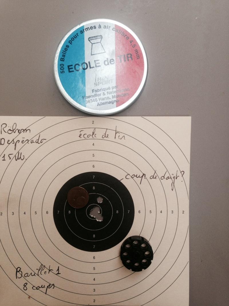 test sur 3 types de plombs avec Rohm desperado 10 et 15 Mètres 1_15_m10