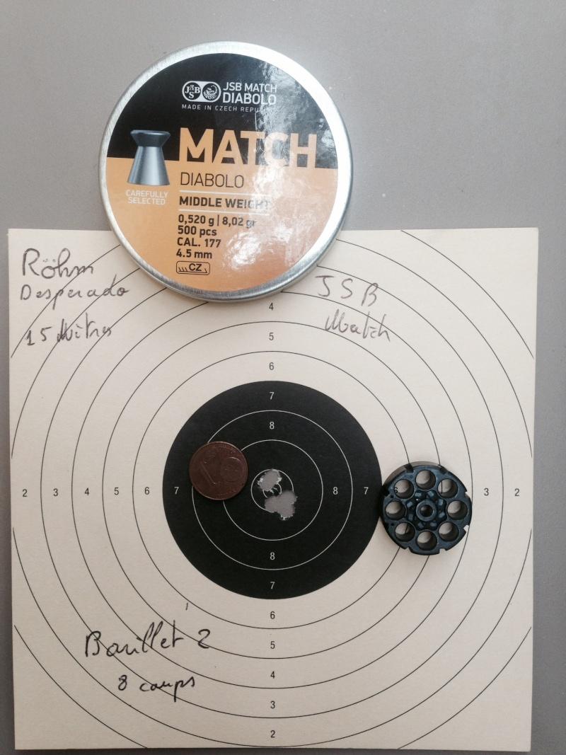 test sur 3 types de plombs avec Rohm desperado 10 et 15 Mètres 2_15_m10