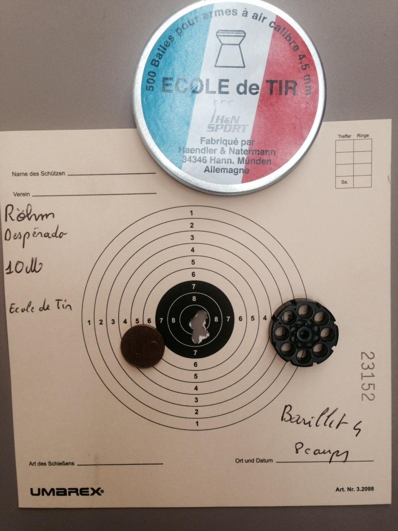 test sur 3 types de plombs avec Rohm desperado 10 et 15 Mètres 4_10_e10