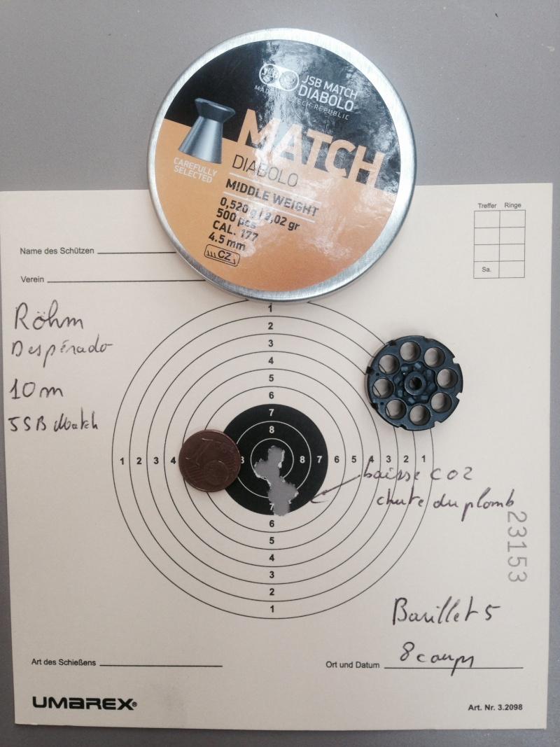 test sur 3 types de plombs avec Rohm desperado 10 et 15 Mètres 5_10_m10