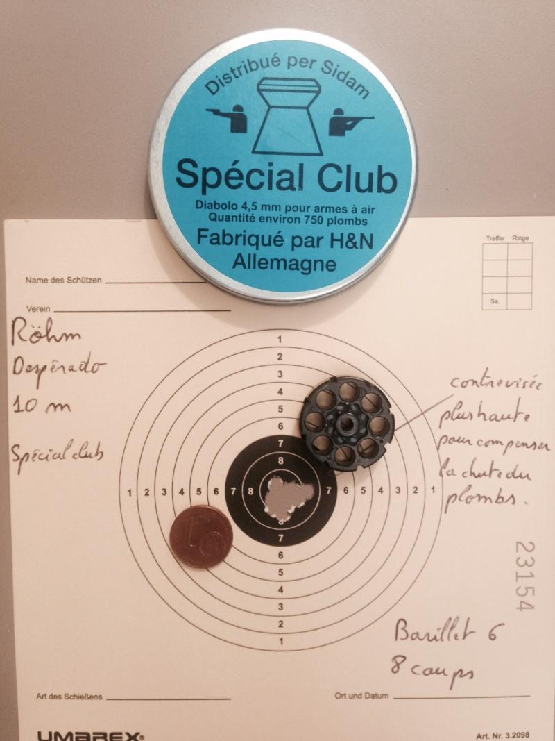 test sur 3 types de plombs avec Rohm desperado 10 et 15 Mètres 6_10_c10