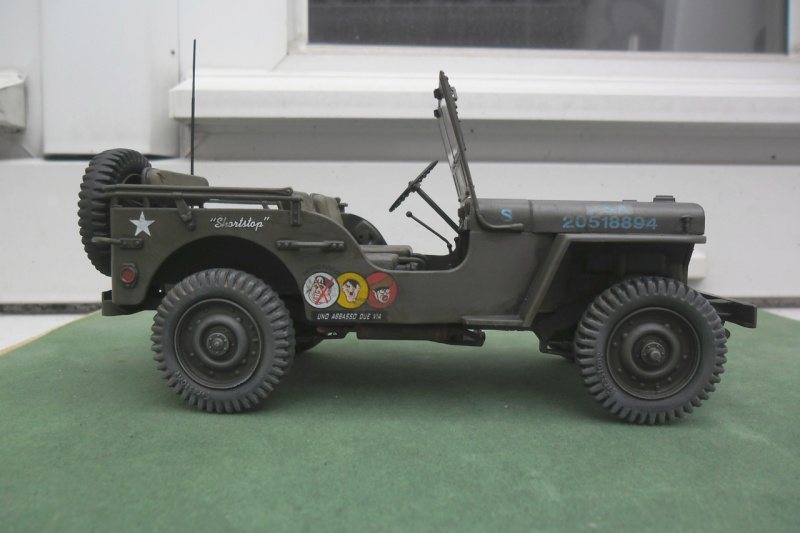 """Jeep Willys """"Short Stop"""" Italeri 1/24  """"In situ"""" 15070013"""