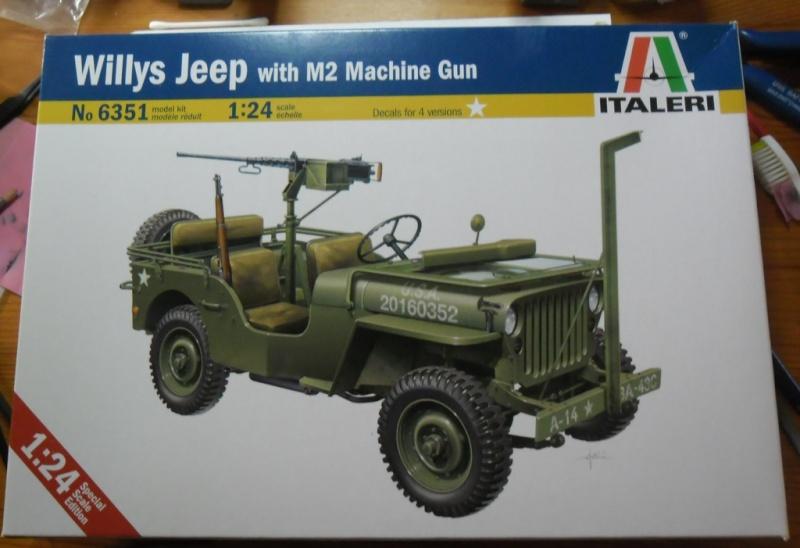 Willys Jeep with M2 Machine Gun Italeri 1/24 (6351) Sans_107