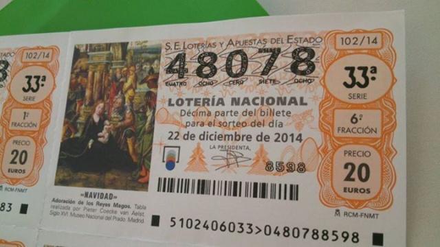 DÉCIMO DE LOTERÍA DE NAVIDAD DE LA A.P.M. DRAGONES DE LEVANTE Decimo10