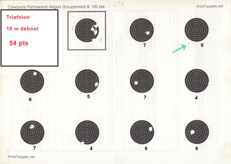 """Concours permanent bimestriel """"groupement & 100pts"""" sur cible CC A4 : Septembre Octobre 2014 - Page 5 Triath12"""