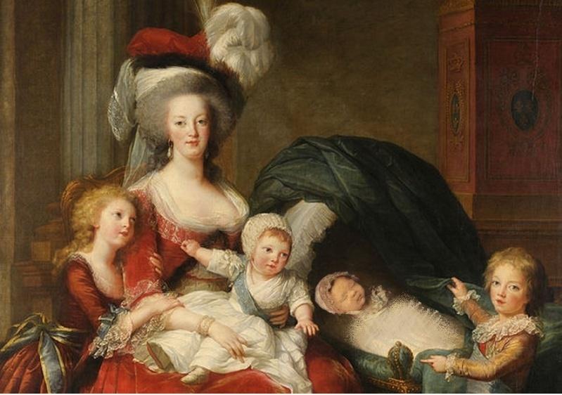 Portrait uchronique de la Reine avec ses enfants 4_enfa10