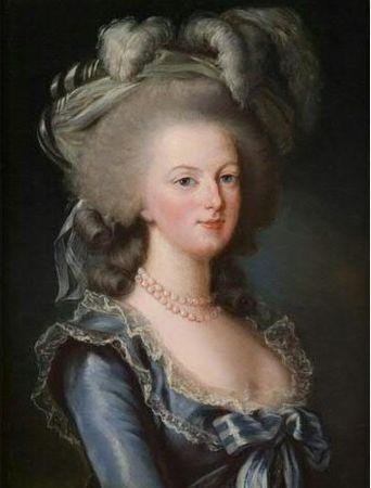 Déclinaisons sur le portraits à la rose en robe bleue, d'après Elisabeth Vigée Lebrun 62937110