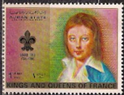 Marie-Antoinette, la Famille Royale et la Révolution en timbres-postes Ajmanl10
