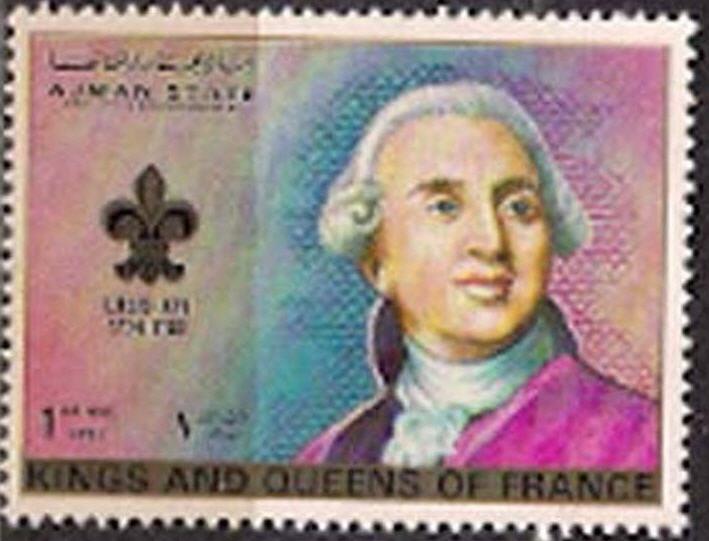 Marie-Antoinette, la Famille Royale et la Révolution en timbres-postes Ajmanl11