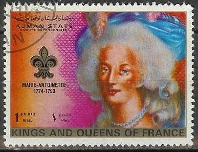 Marie-Antoinette, la Famille Royale et la Révolution en timbres-postes Ajmanm10
