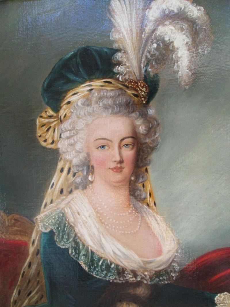 Marie-Antoinette au livre en robe bleue Ba-00110