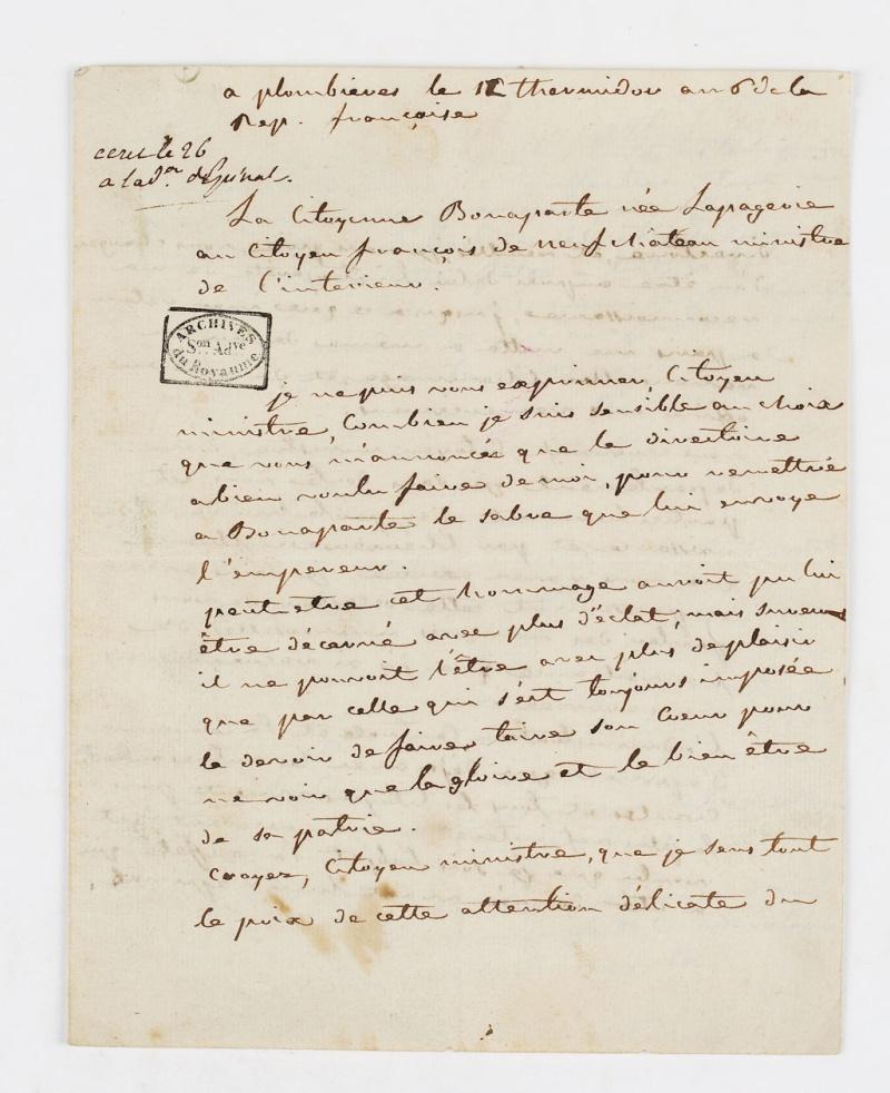 Lettres de Joséphine, Bonaparte puis impératrice Dafanc12