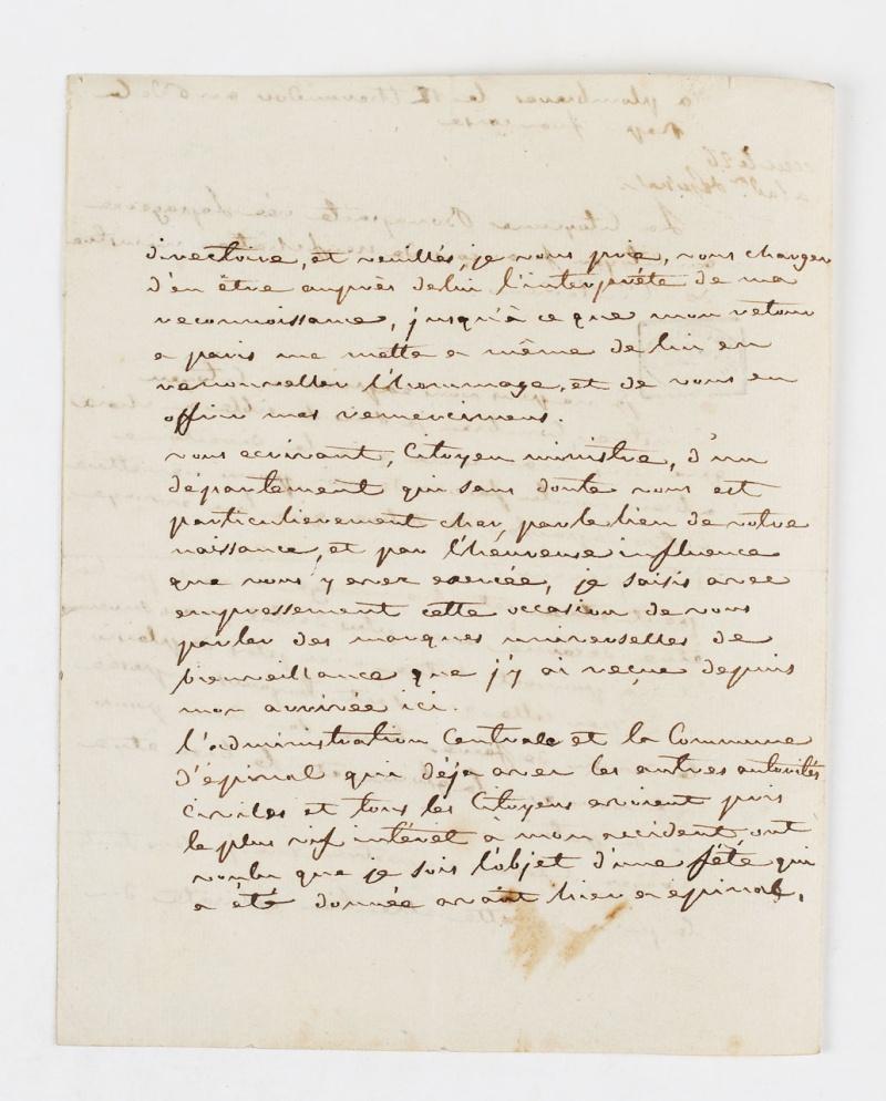 Lettres de Joséphine, Bonaparte puis impératrice Dafanc13