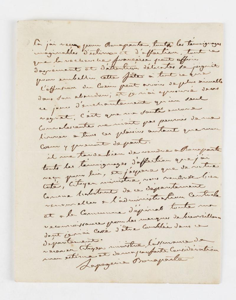Lettres de Joséphine, Bonaparte puis impératrice Dafanc14