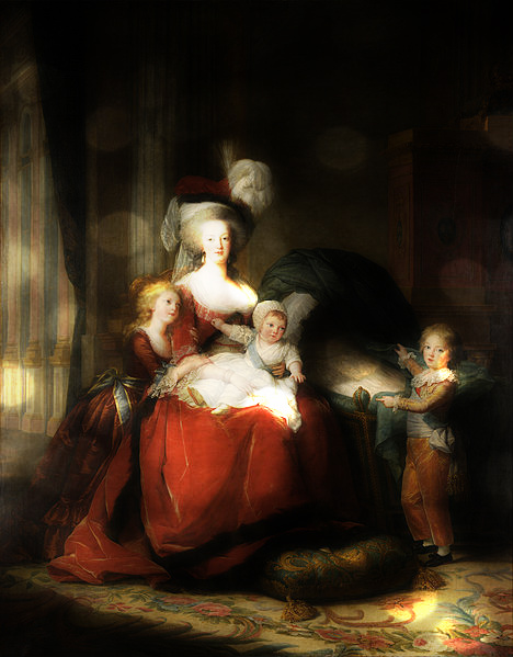 Portrait Marie Antoinette et ses enfants par Elisabeth Louise Vigée Lebrun Zim10