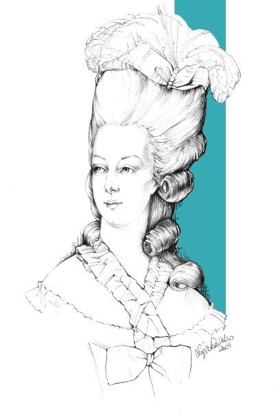 Portrait de la Reine 1778 Zse10