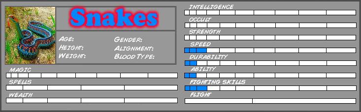 Summons: Millennianna's Minions/Friends. Snakes10