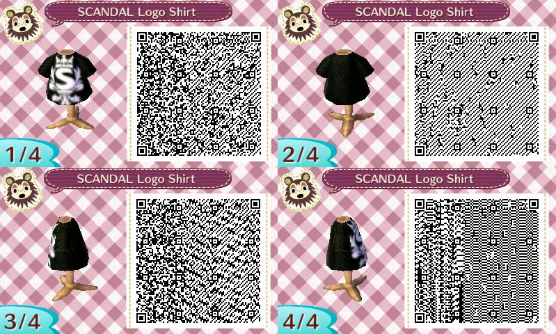 SCANDAL Animal Crossing QR Designs Scanda11