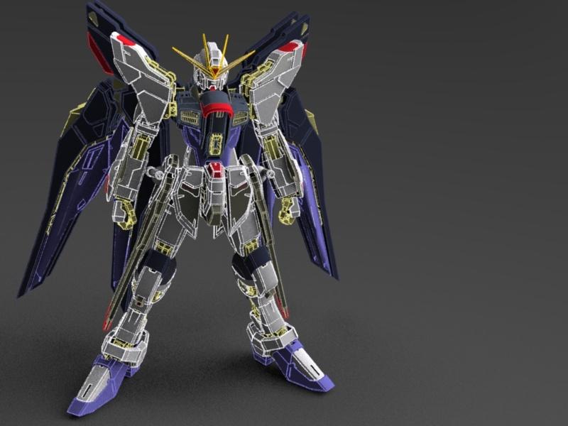 Strike Freedom Gundam Model 210