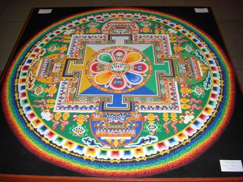 photos de mandalas tibétains, un instant d'émerveillement av 1419