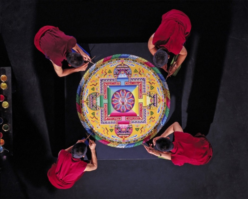 photos de mandalas tibétains, un instant d'émerveillement av 1420